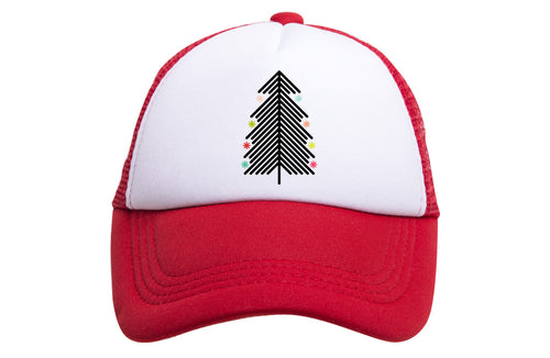 HOLIDAY TREE TRUCKER (RED)