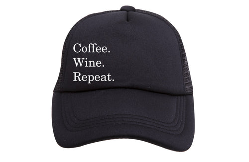 COFFEE WINE REPEAT TRUCKER