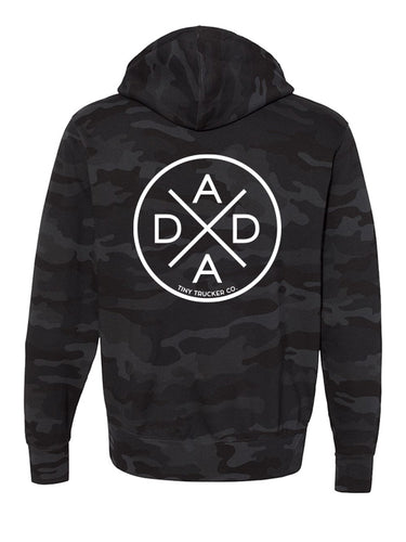 DADA X™ BLACK CAMO ZIP UP SWEATSHIRT
