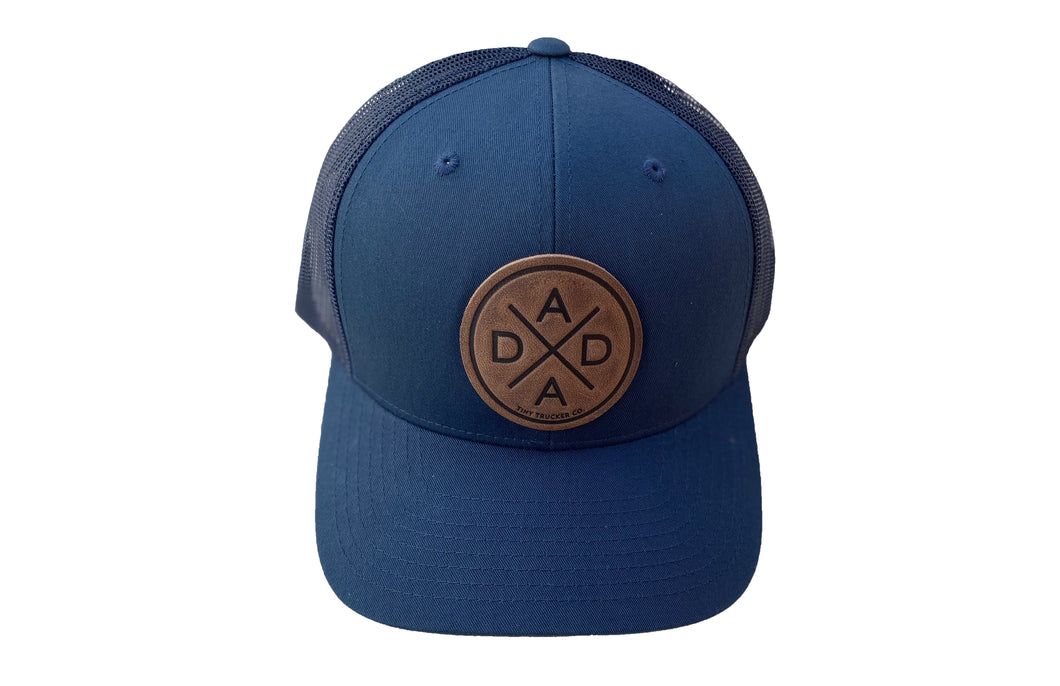 DADA X LEATHER PATCH - NAVY