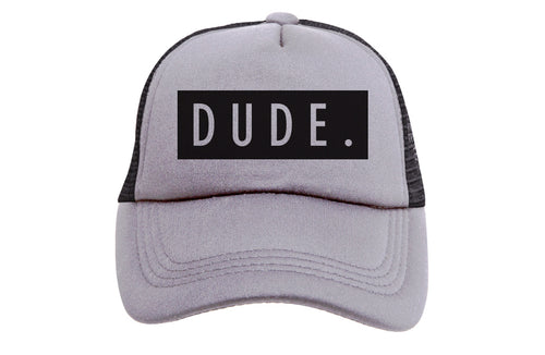 DUDE (GREY & BLACK) TRUCKER