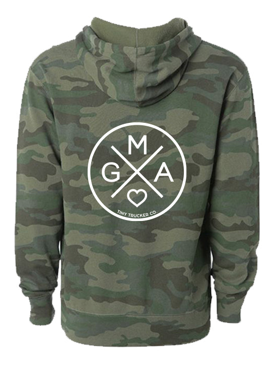 GMA ZIP UP SWEATSHIRT - CAMO