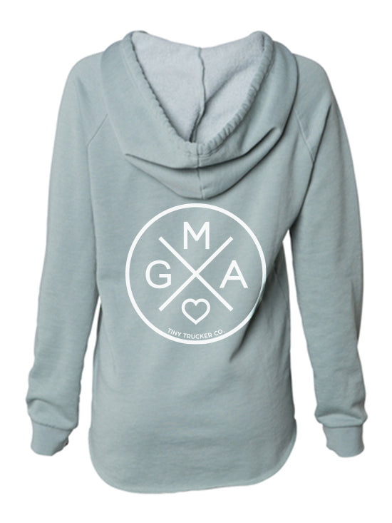GMA X V-NECK SWEATSHIRT - SAGE