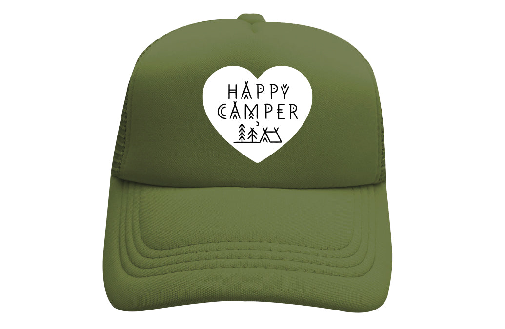 HAPPY CAMPER (HEART) TRUCKER - GREEN