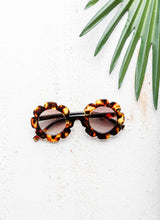 CHILD FLOWER SUNGLASSES - TORTOISE