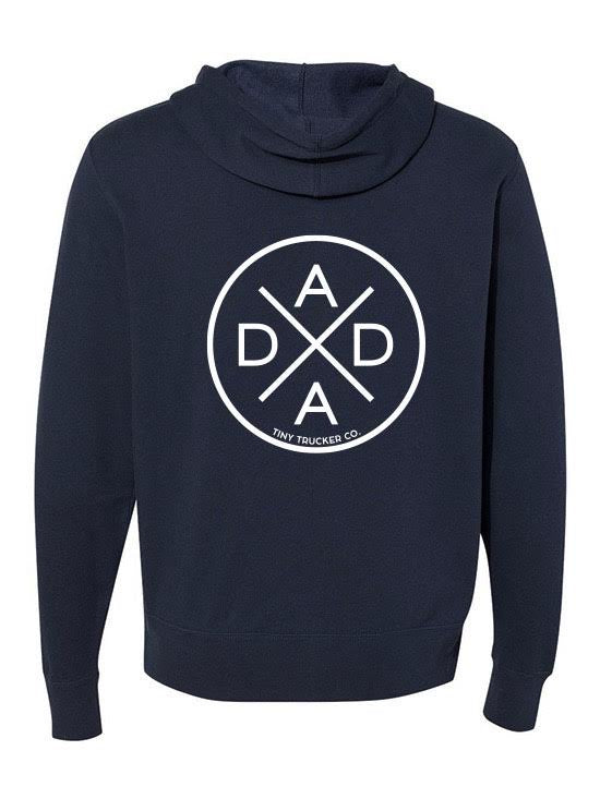 DADA X NAVY ZIP UP SWEATSHIRT