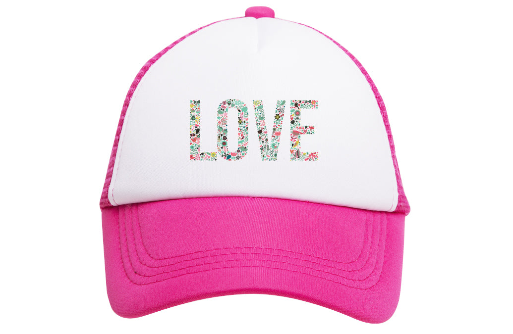 LOVE (FLORAL TEXT) TRUCKER