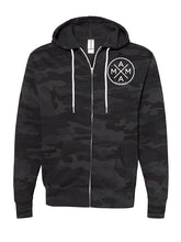 MAMA X ™ ZIP UP SWEATSHIRT - BLACK CAMO