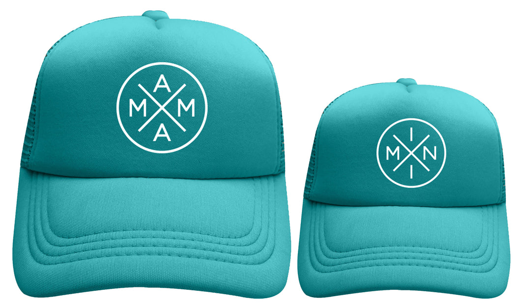 MAMA X ™ MINI X  SET - TEAL WITH WHITE GLITTER