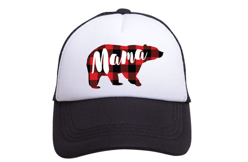 MAMA BEAR PLAID TRUCKER