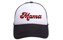 MAMA TRUCKER - PLAID TEXT