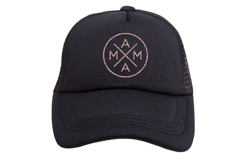 MAMA X ™ TRUCKER- ROSE GOLD GLITTER