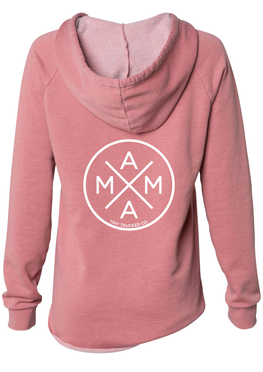 MAMA X ™ V-NECK SWEATSHIRT - DUSTY ROSE