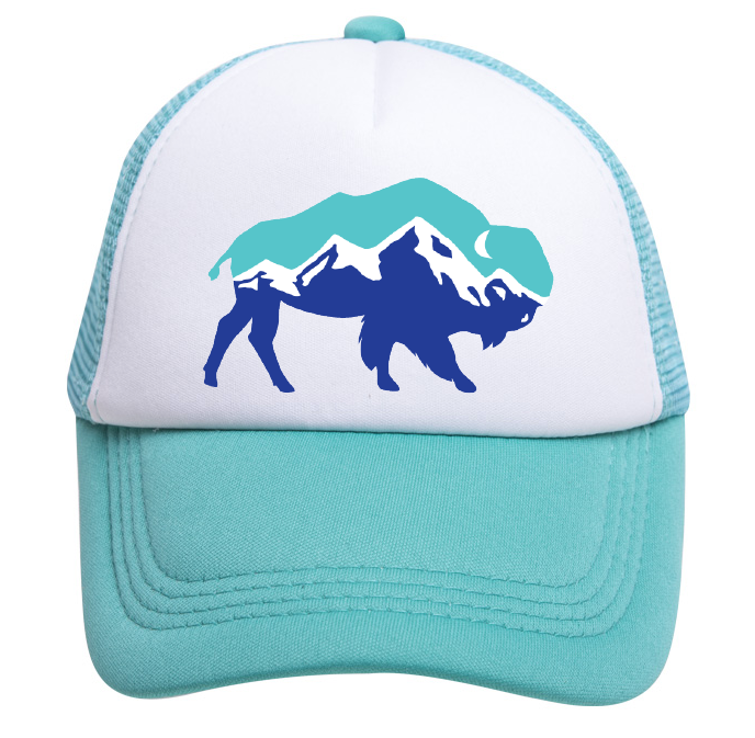 THUNDER VISTA CUSTOM TRUCKER HATS (TEAL/WHITE)