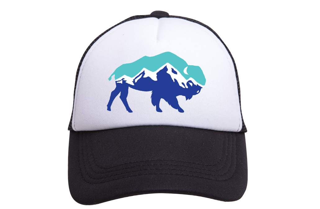 THUNDER VISTA CUSTOM TRUCKER HATS (BLACK/WHITE)