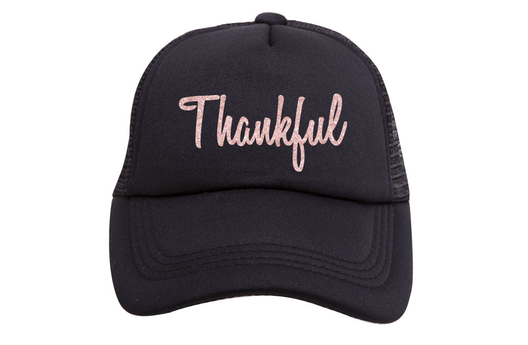 THANKFUL TRUCKER- ROSE GOLD GLITTER