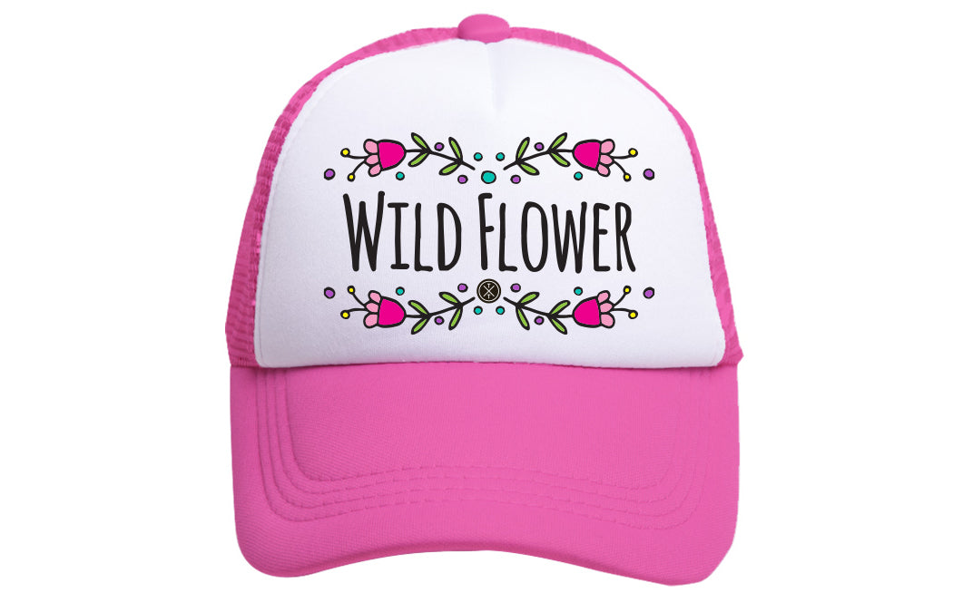 WILD FLOWER TRUCKER (DARK PINK)