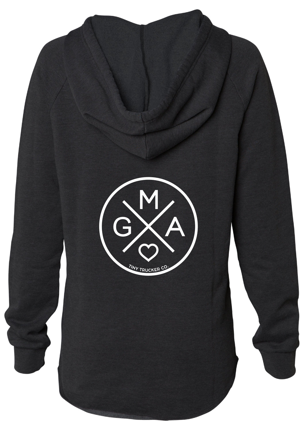 GMA X V-NECK SWEATSHIRT - BLACK