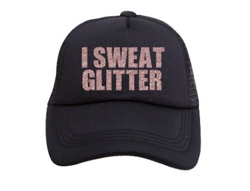 I SWEAT GLITTER TRUCKER