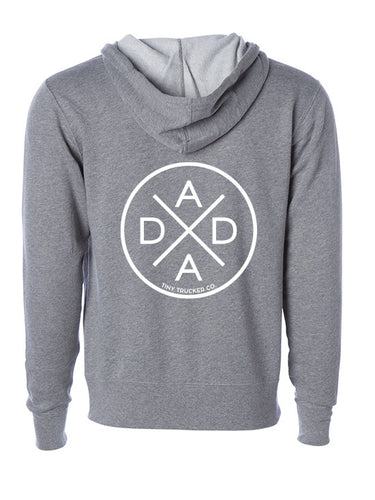 DADA X™ GREY ZIP UP SWEATSHIRT