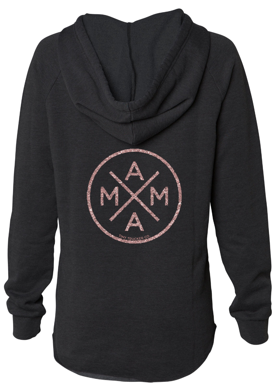 MAMA X ™ V-NECK SWEATSHIRT - ROSE GOLD
