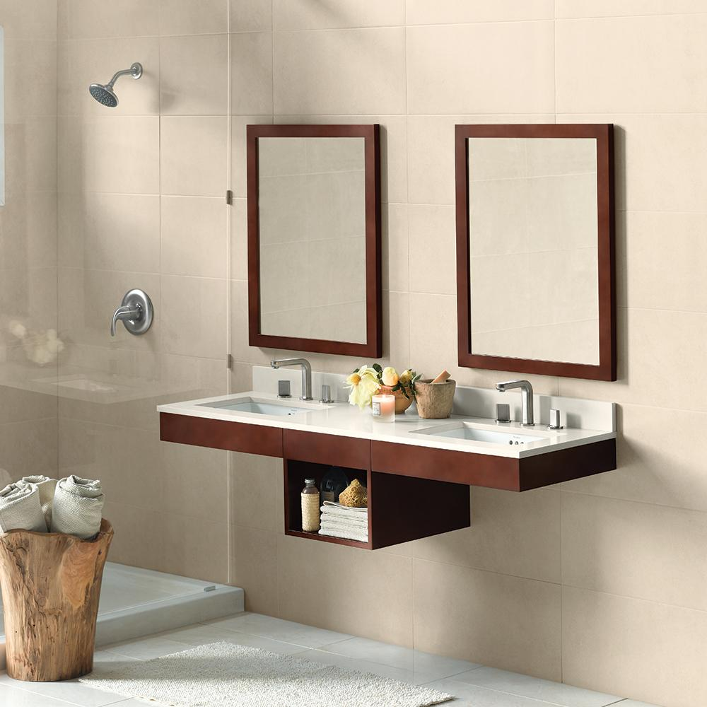 Wall To Wall Bathroom Vanity. 61 Adina Double Wall Mount Bathroom Vanity Set In Dark Cherry With Ceramic Undermount Sinks And Mirrors No Reviews