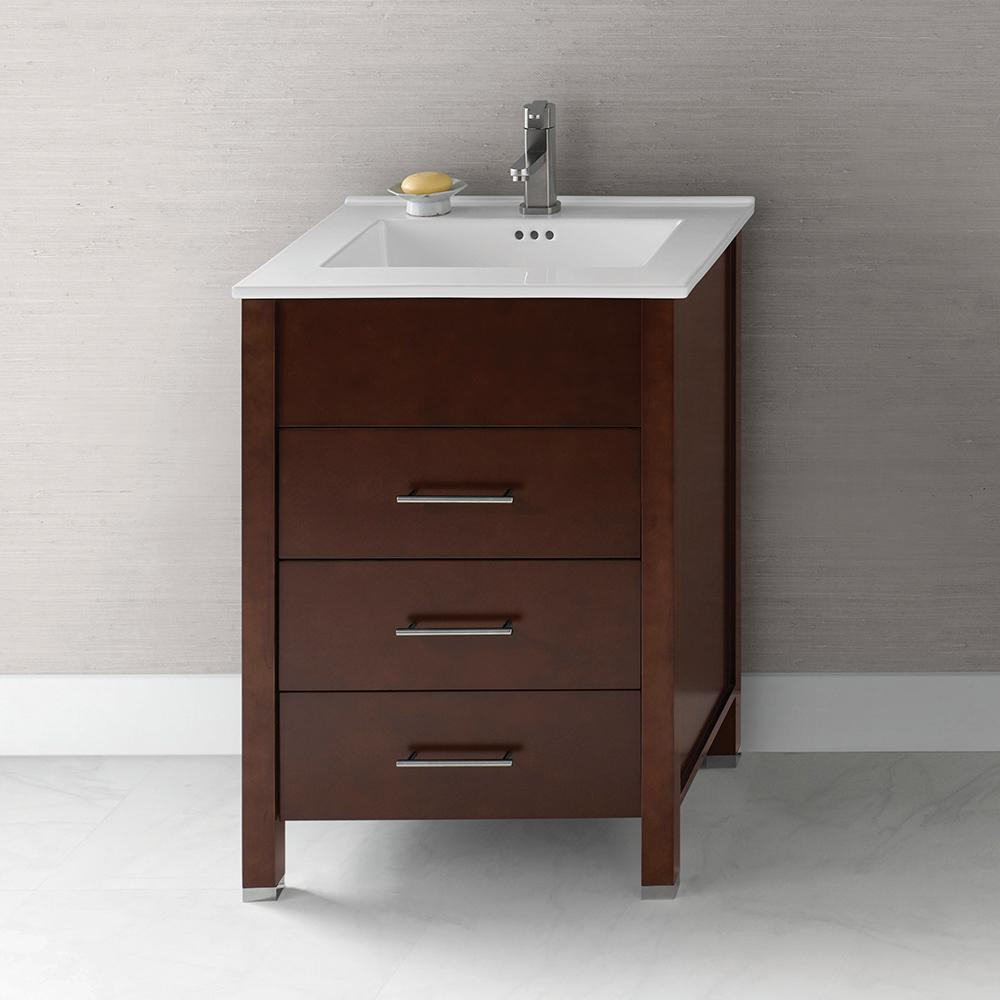 "Bathroom Vanity Base 23"" kali bathroom vanity base cabinet in dark cherry – ronbow"