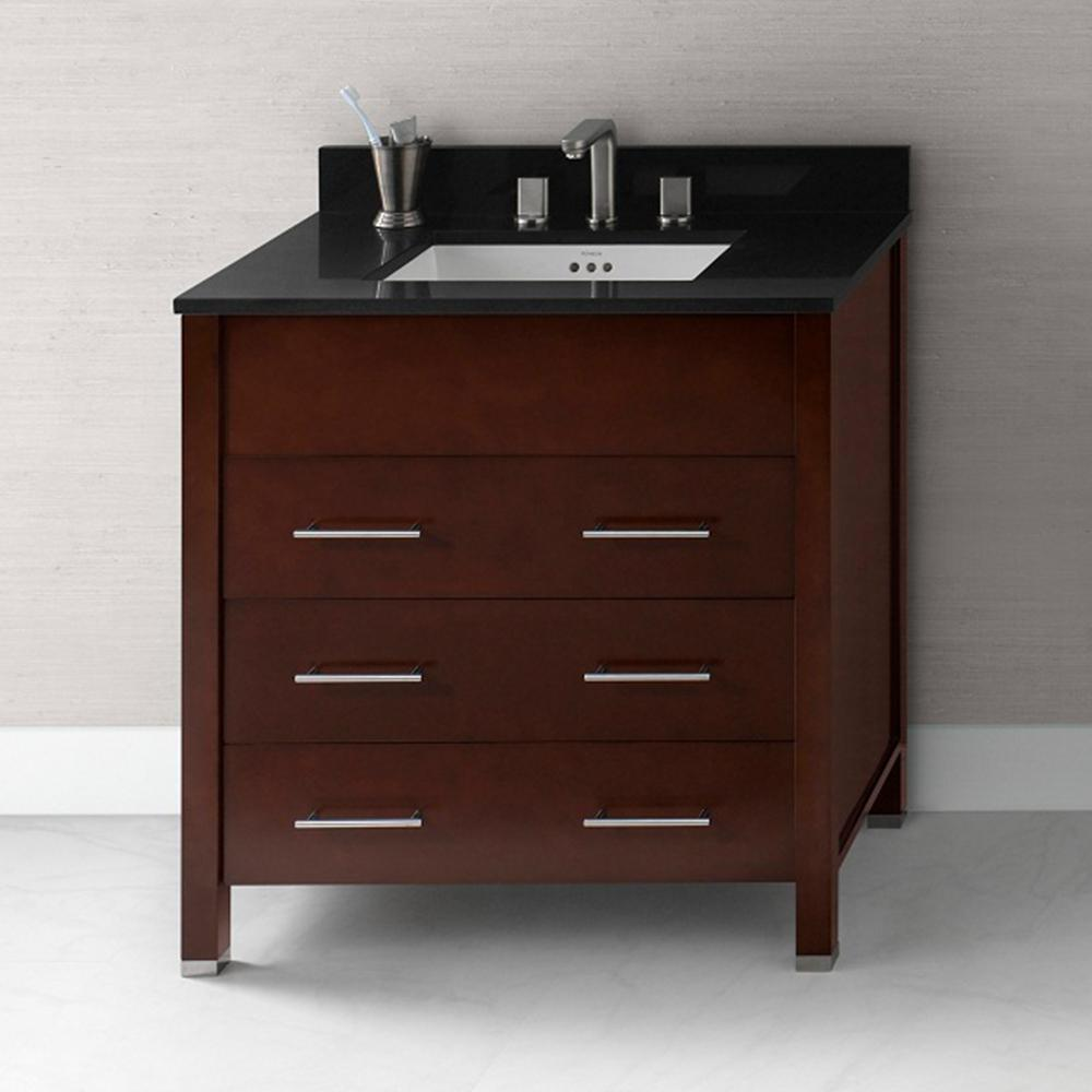 "31 Beautiful Recessed Lighting Over Bathroom Vanity: 31"" Kali Bathroom Vanity Base Cabinet In Dark Cherry"