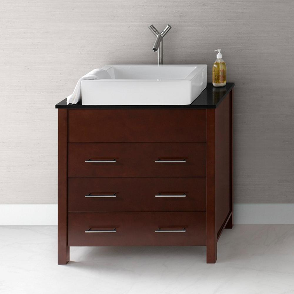 "31 Beautiful Recessed Lighting Over Bathroom Vanity: 31"" Kali Bathroom Vanity Cabinet Base In Dark Cherry"