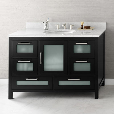 48 Inch Bathroom Vanity With Sink. 48  Athena Bathroom Vanity Set in Black with Ceramic Undermount Sink Inch Vanities Wide Cabinets With