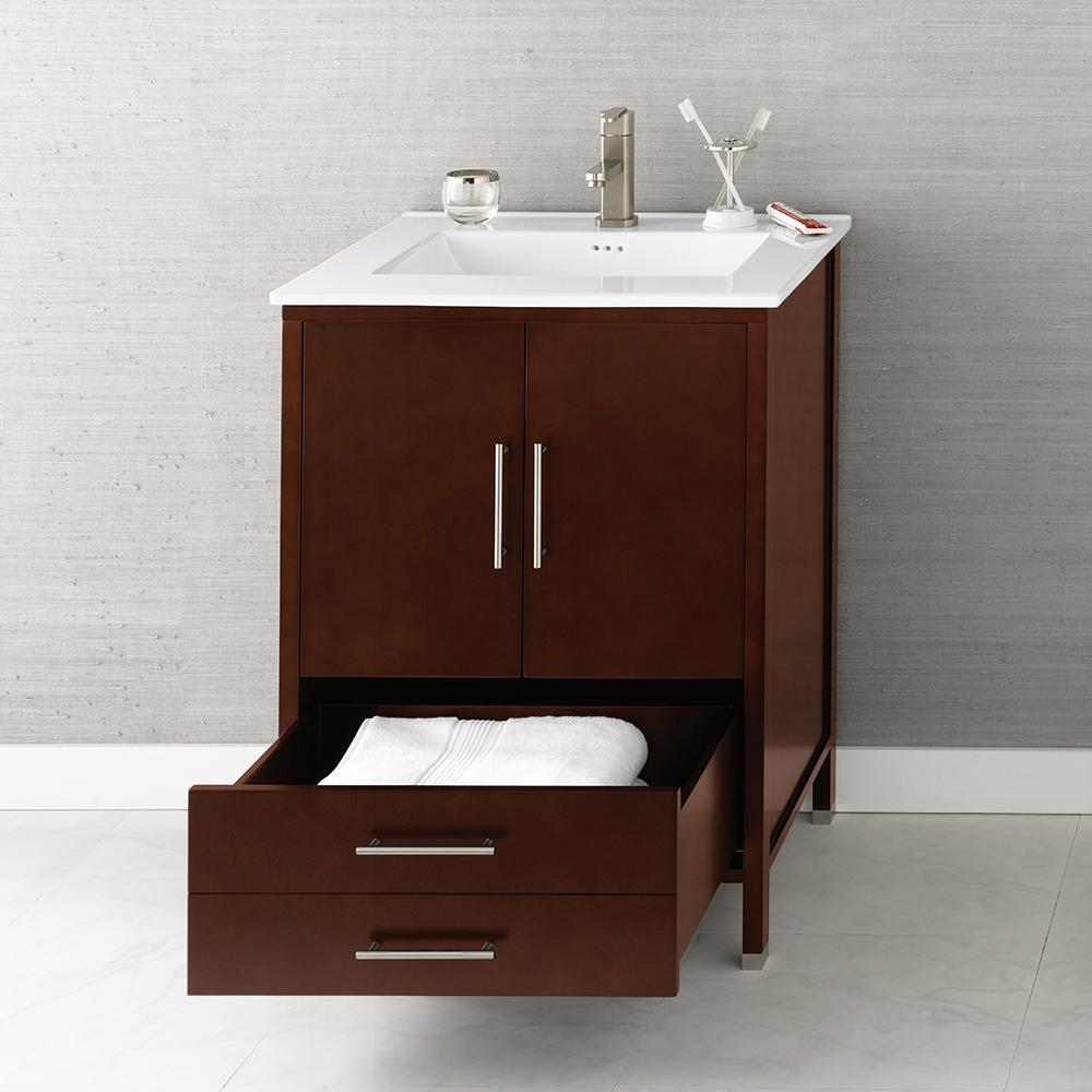 24 inch bathroom vanity cabinet 24 quot juno modern bathroom vanity cabinet in cherry 10126