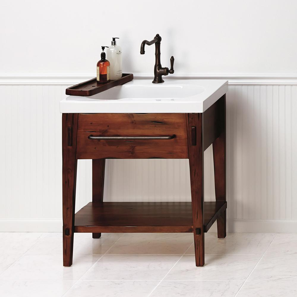 30  Portland Bathroom Vanity Set in Rustic Pine with Ceramic Sink No reviews