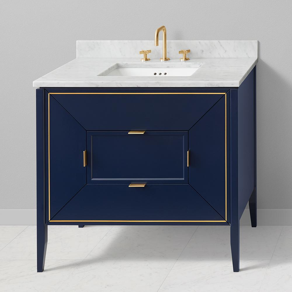 vanity blue house repainted a easy enamel bathroom with basic for s paint satin an makeover navy charlotte repainting at white