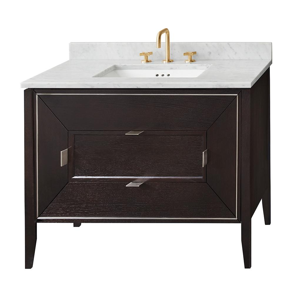 48 vanity with sink. 48  Amora Bathroom Vanity Set In Oak Toscana With Natural Stone Top Carrara White And Ceramic Sink No Reviews