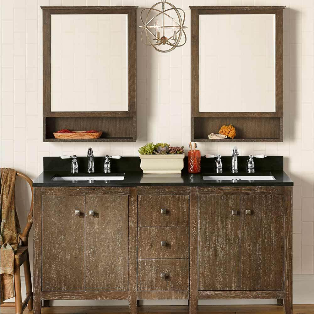 "24"" Sophie Double Bathroom Vanity Set with Medicine Cabinet"