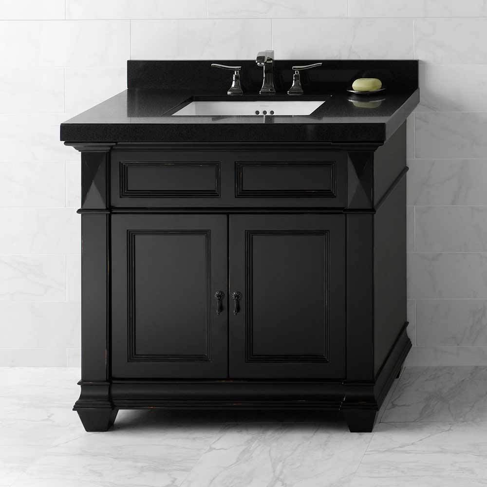 black bathroom vanity with sink 36 quot torino bathroom vanity set in antique black with 22763