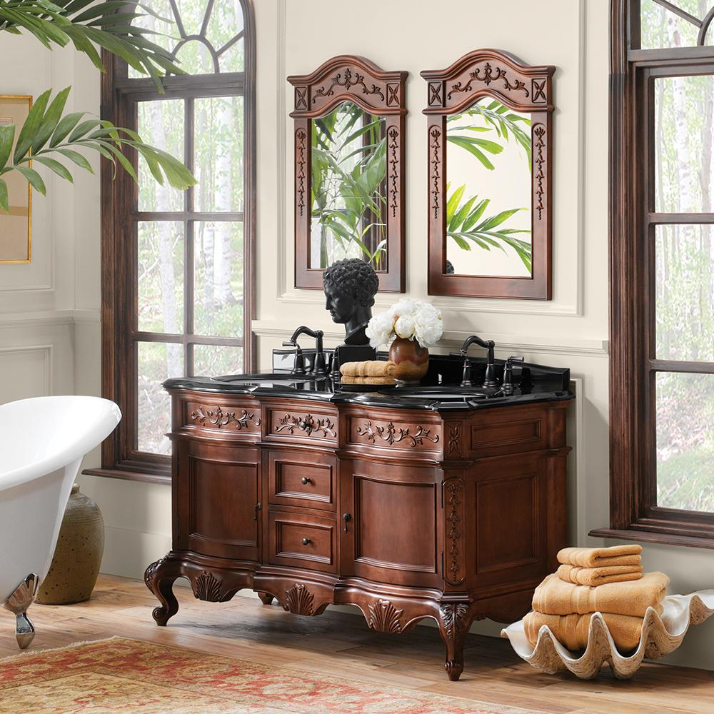 60 Quot Bordeaux Bathroom Vanity Cabinet Base In Colonial Cherry