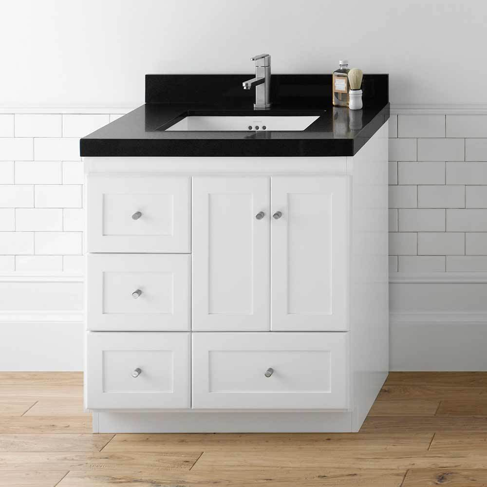 "30"" Shaker Bathroom Vanity Set with Ceramic Sink"
