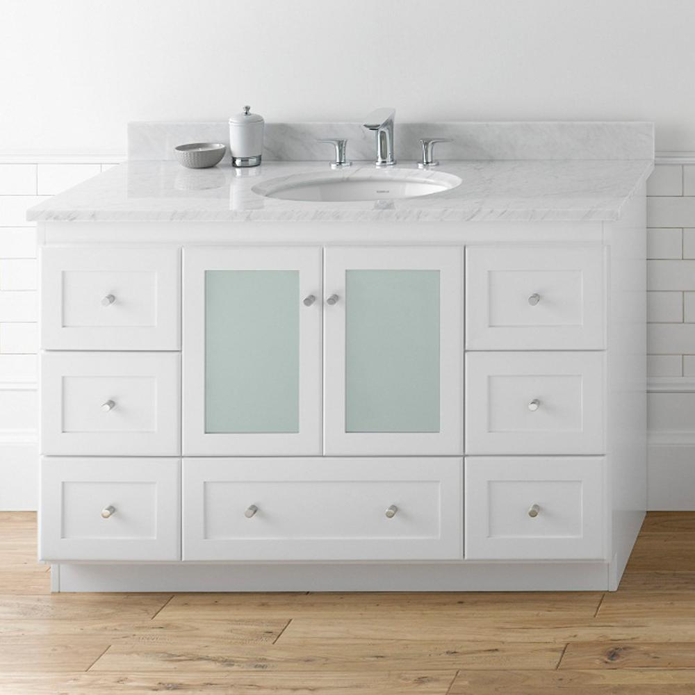 "48"" Shaker Bathroom Vanity Set with Ceramic Sink"
