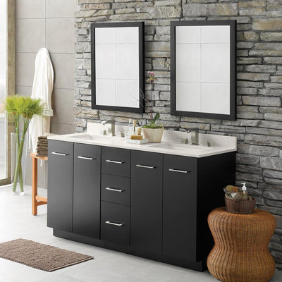 Amazing 60u201d Arden Eco Friendly Double Bathroom Vanity Set With Ceramic Sink And  Mirror. By Ronbow Essentials