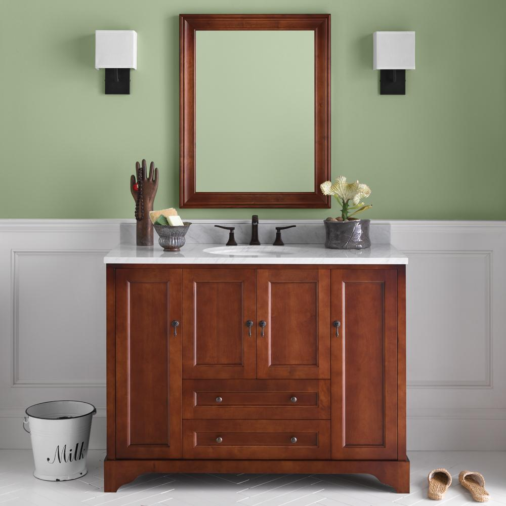 36 Quot Milano Bathroom Vanity Cabinet Base In Colonial Cherry