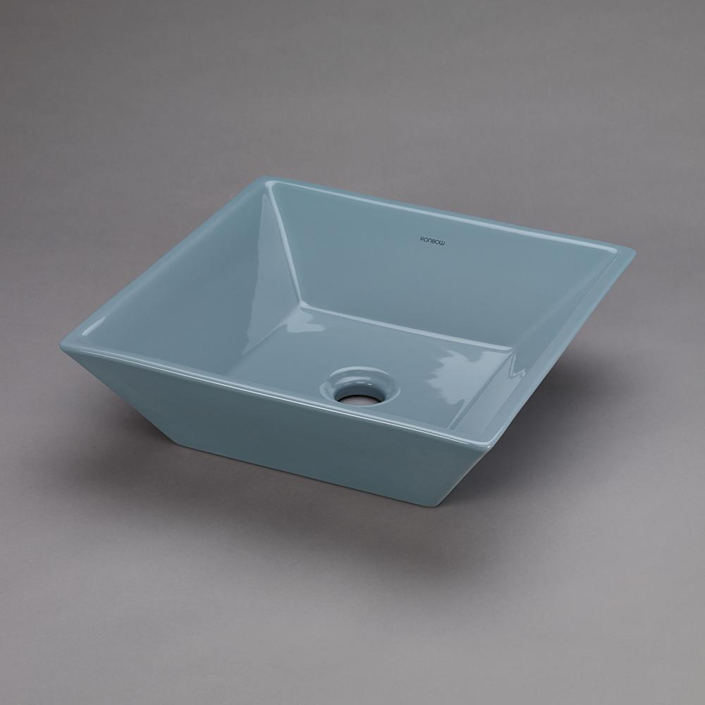 16 Quot Formation Square Ceramic Vessel Bathroom Sink