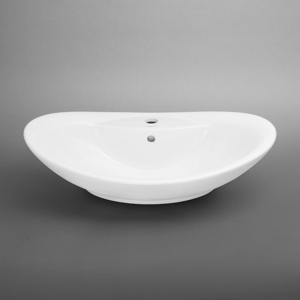 26 Quot Ellipse Oval Ceramic Vessel Bathroom Sink In White