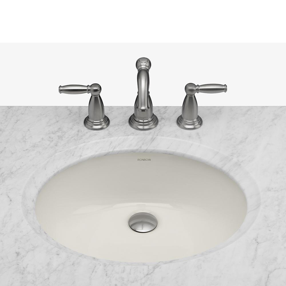 "Undermount Bathroom Sink Oval 19"" halo oval ceramic undermount bathroom sink – ronbow"