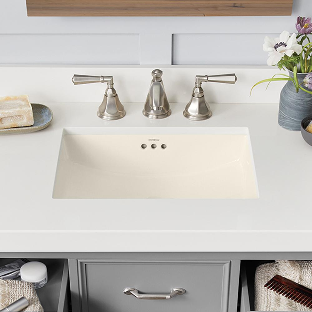 19 Quot Plane Rectangular Ceramic Undermount Bathroom Sink