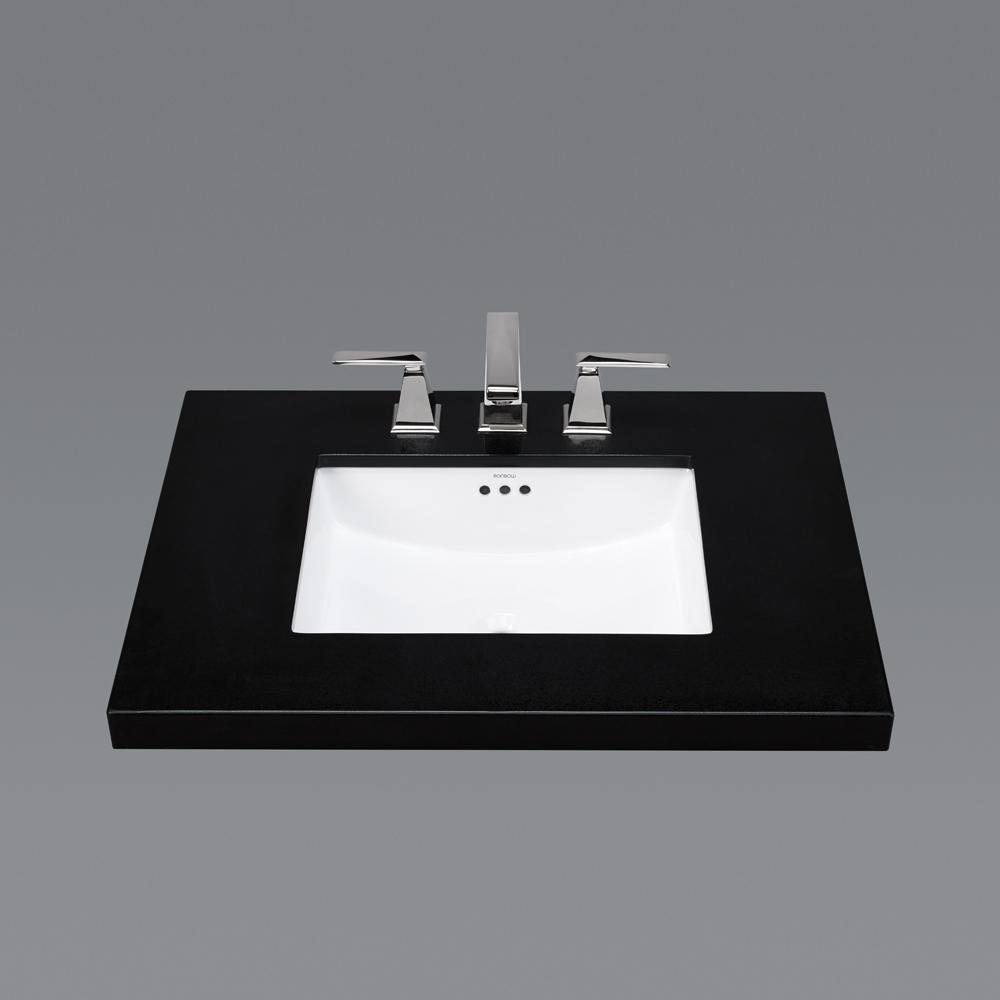 Bathroom sink rectangular - 19 Plane Rectangular Ceramic Undermount Bathroom Sink