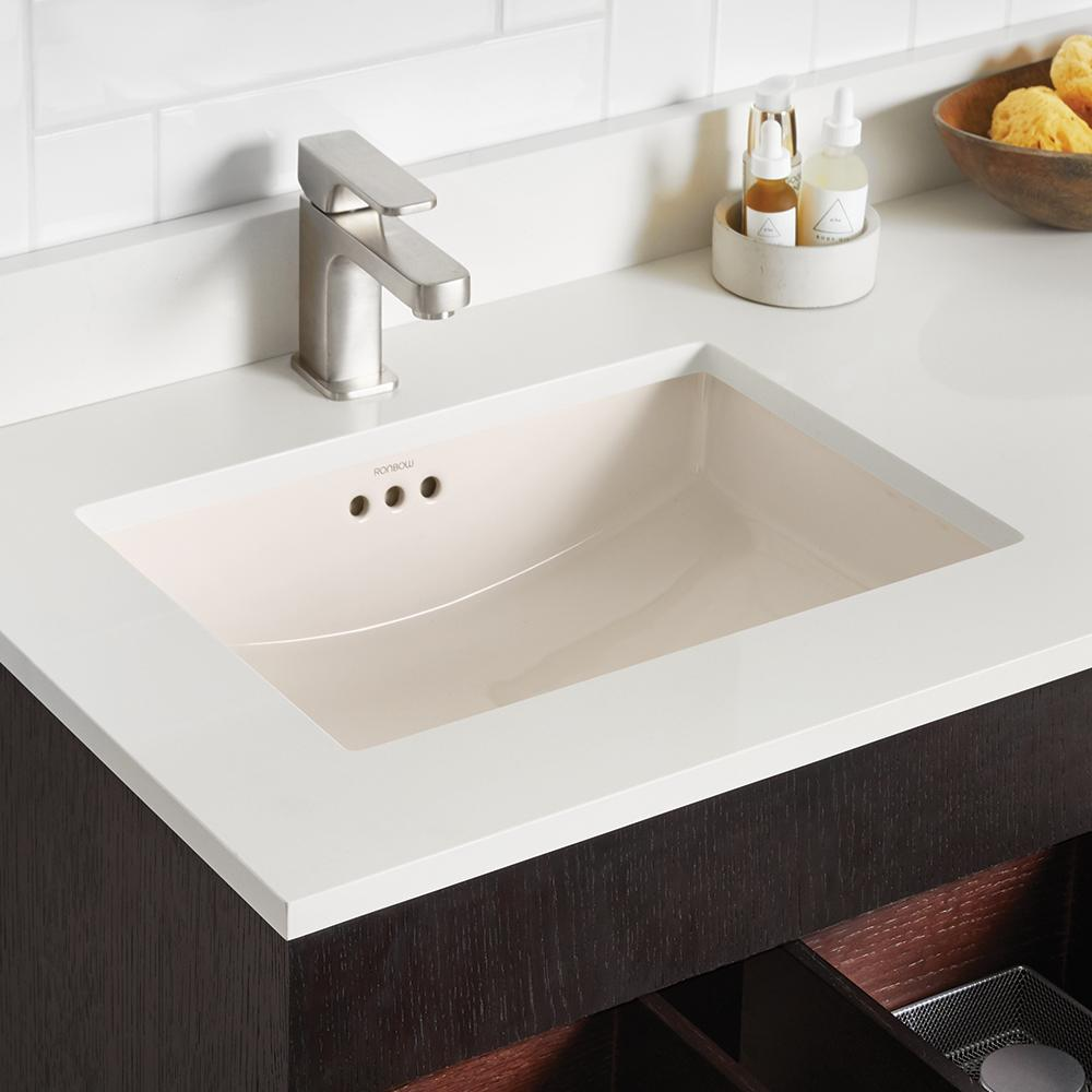 19 quot essence rectangular ceramic undermount bathroom sink 12375