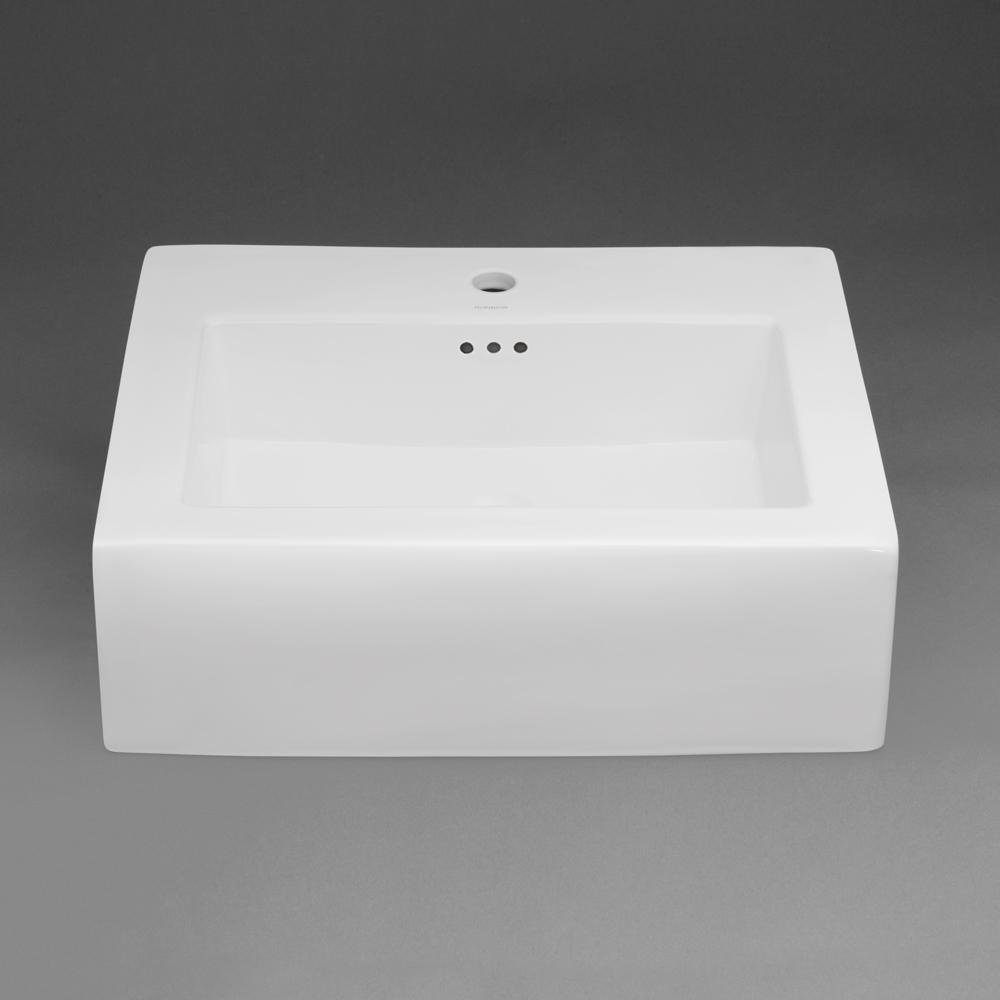 //WSL// RONBOW 217724-1 WHITE PROMINENT SINGLE HOLE COUNTER TOP VESSEL BOWL 23-5/8