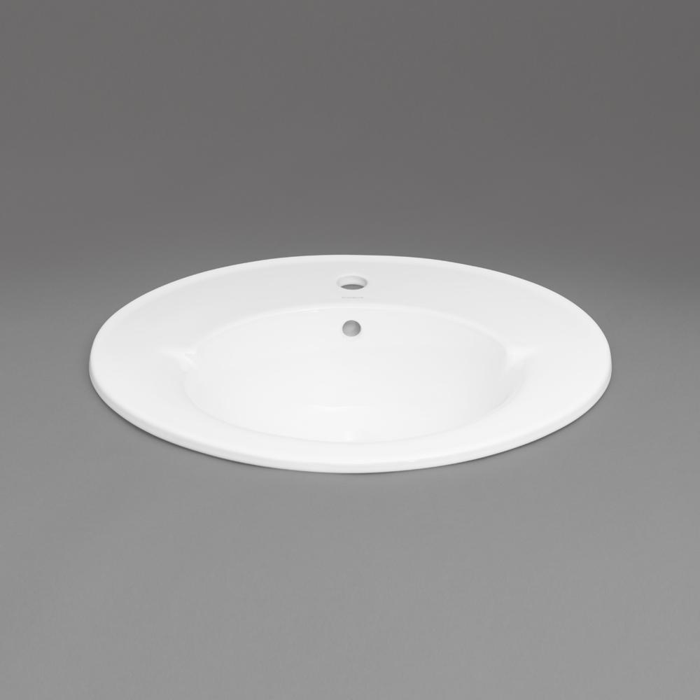 Leonie Ceramic Dropin Bathroom Sink - Black drop in bathroom sink
