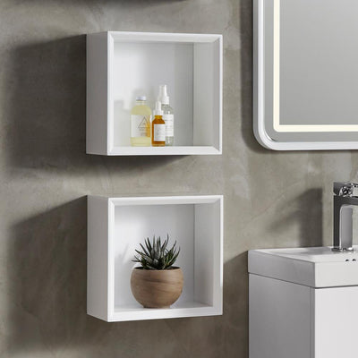 Bathroom Wall Shelves - Wall Mounted Bathroom Floating Shelves ...